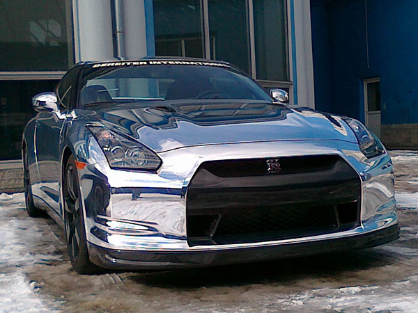 Nissan GTR Chrome & Carbon